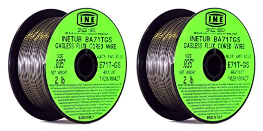 INETUB BA71TGS .035-Inch on 2-Pound Spool Carbon Steel Gasless Flux Cored Welding Wire (Pack of 3) - - Amazon.com