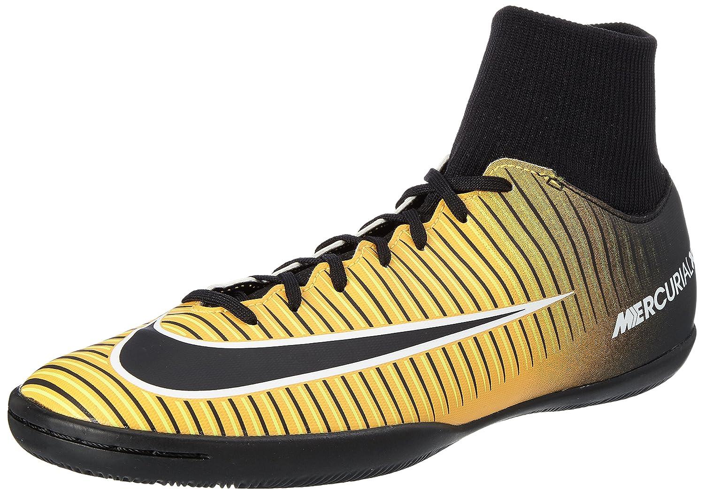 Nike Herren MercurialX Victory VI DF IC Fuszlig;ballschuhe  40.5 EU|Orange (Laser Orange/Black/White/Volt)