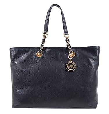 michael kors black saffiano leather cynthia large tote bag black rh amazon co uk