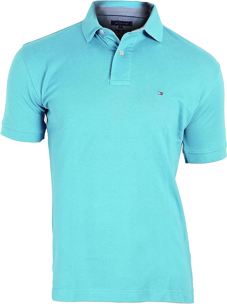 Tommy Hilfiger – Polo para Hombre Knitt Uni Turquesa Turquesa ...