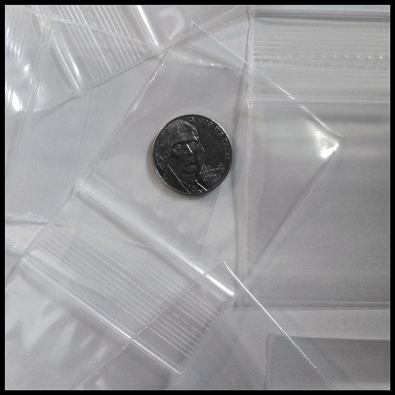 Small Plastic Recloseable Bags 100 2020 Color Apple Mini Ziplock Baggie Colored Mix 2 X 2 (Clear) 202020colorsmix