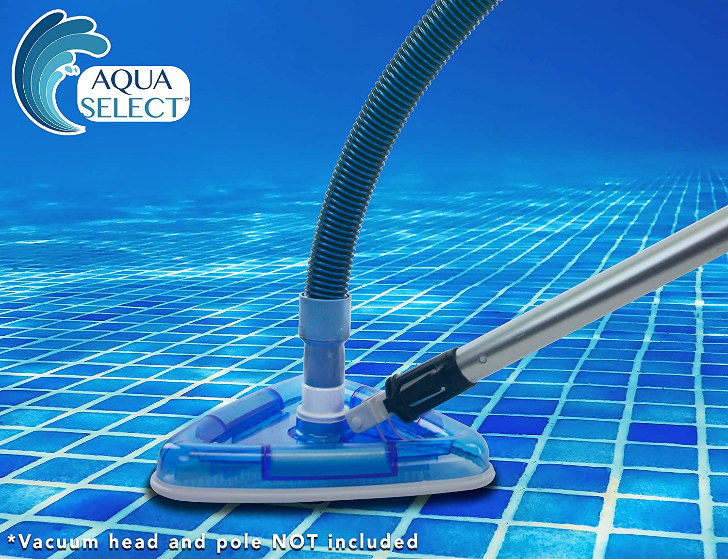 Aqua Select Premium Kink-Free Swimming Pool Vacuum Hoses with 1.25-Inch Swivel Cuff Perfect for Above Ground and Inground Pools 21-Feet Length