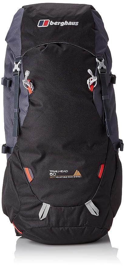 f23626c2c3 Berghaus Trailhead 50 L Rucksack, Black (Jet Black/Carbon), One Size:  Amazon.co.uk: Sports & Outdoors