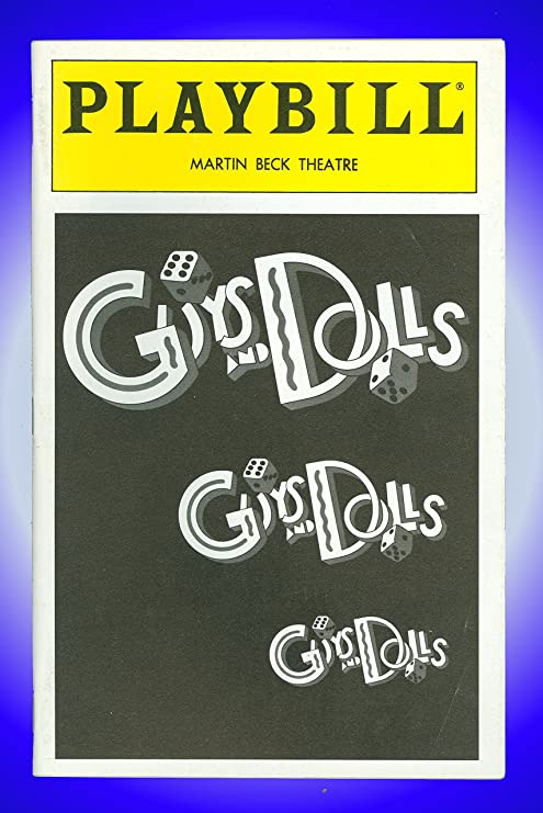 Amazon.com: Guys and Dolls, Broadway Playbill + Tom Wopat ...