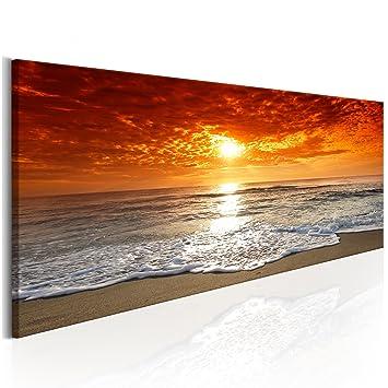 schöner Strand beim Sonnenuntergang  Leinwandbild Wanddeko Kunstdruck