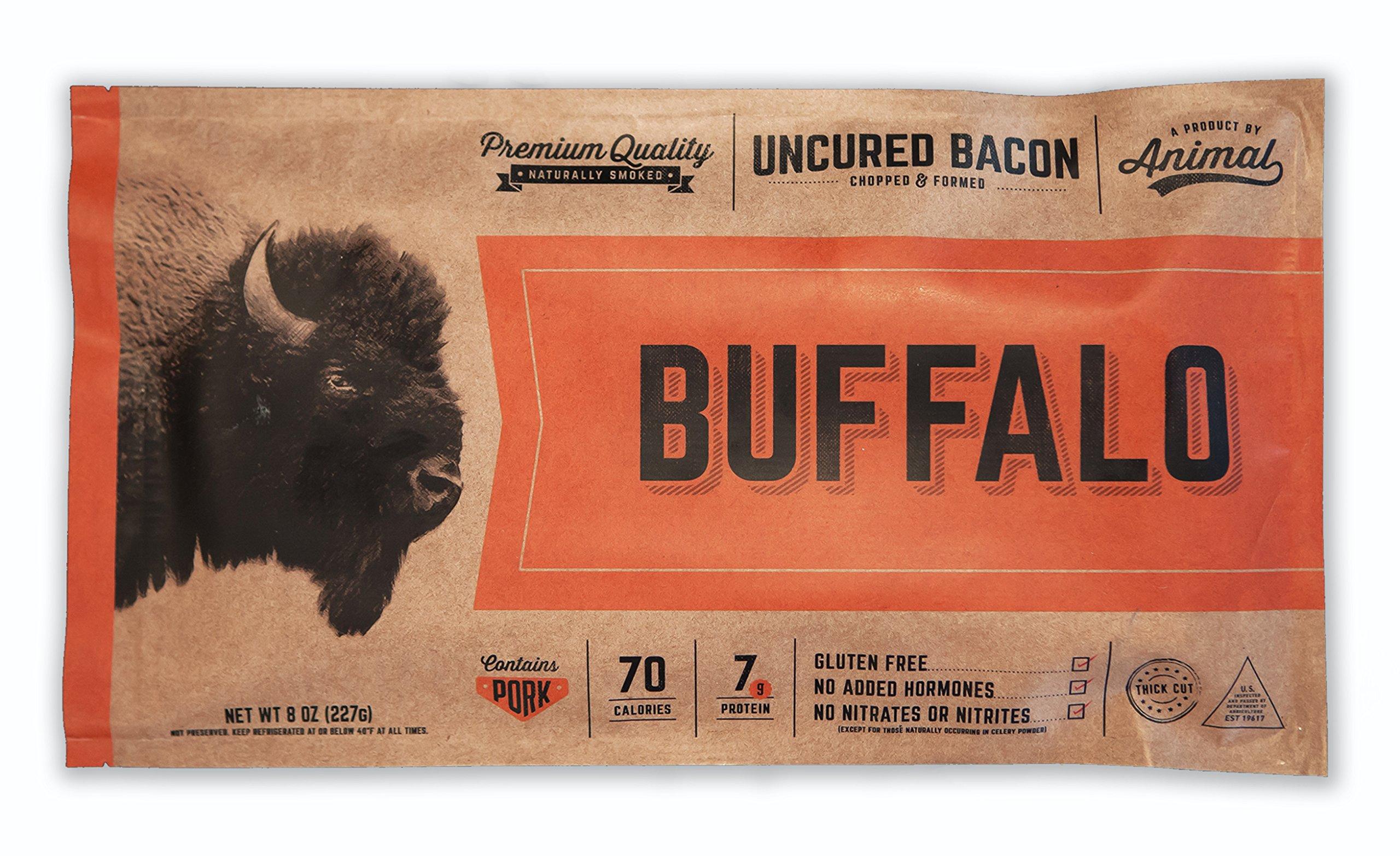 Buffalo Uncured Bacon, 4pk by Animal Bacon