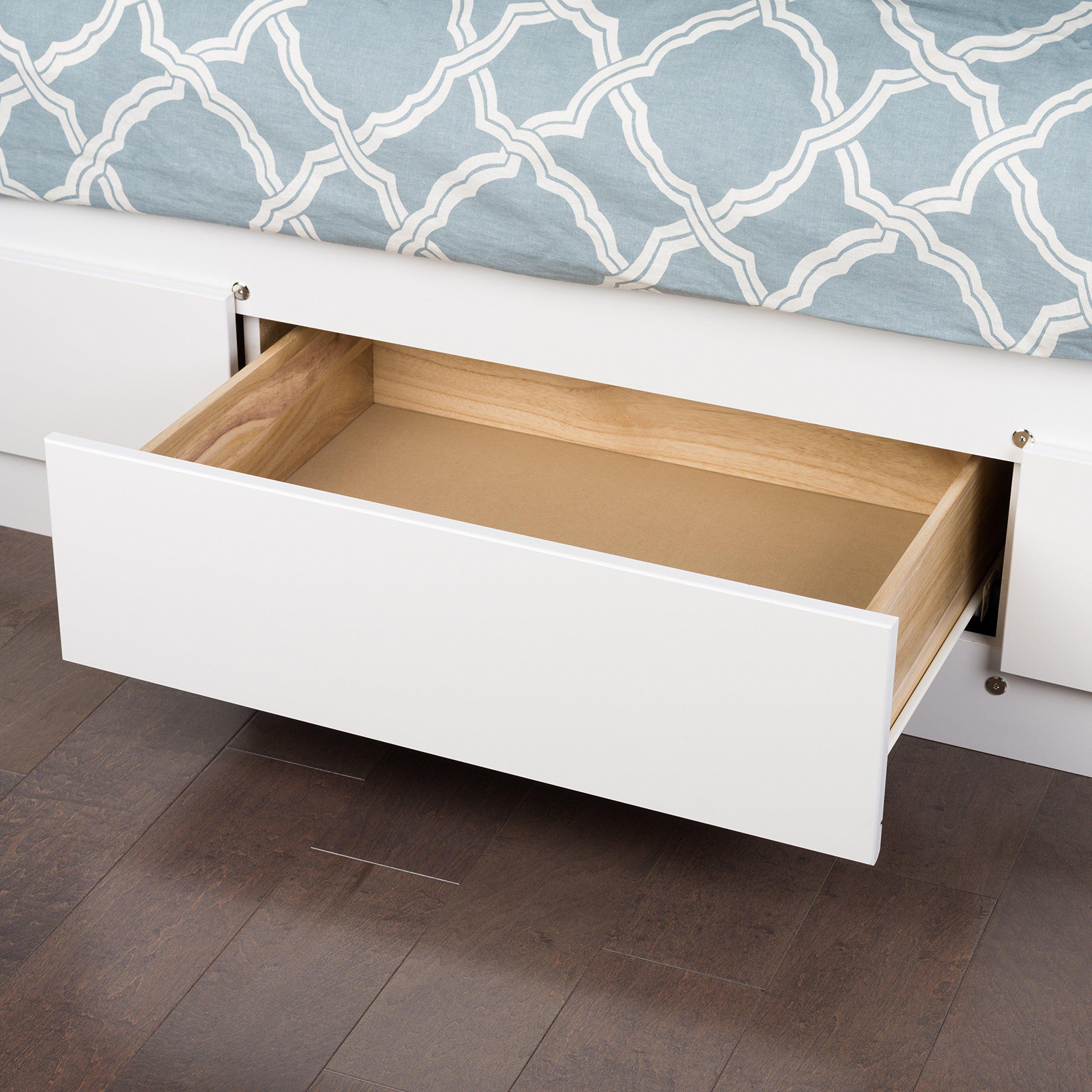 white queen mate s platform storage bed with 6 drawers 772398510910 ebay. Black Bedroom Furniture Sets. Home Design Ideas