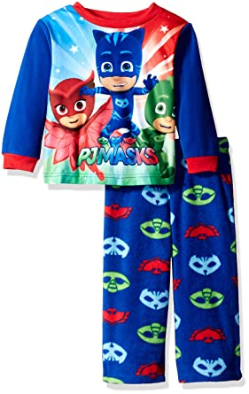 PJ Masks Little Boys Toddler Pj Masks 2-Piece Fleece Pajama Set, Blue