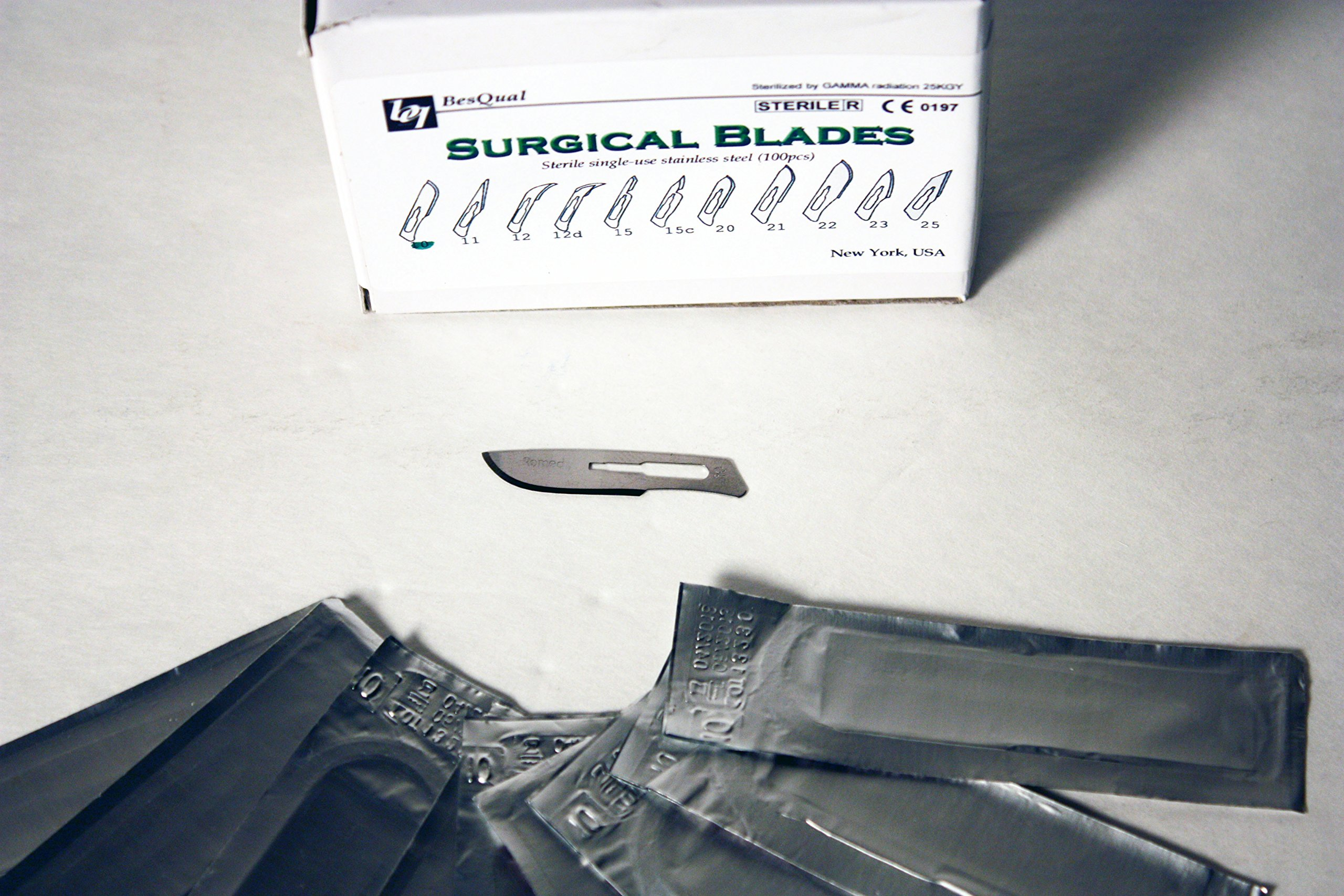 BesQual: 990-10: Premium Quality Surgical Blades Stainless Steel: 100/box