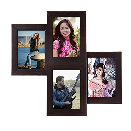 Buy WENS 4-Picture MDF Photo Frame (20 inch x 16 inch, Black, WS ...
