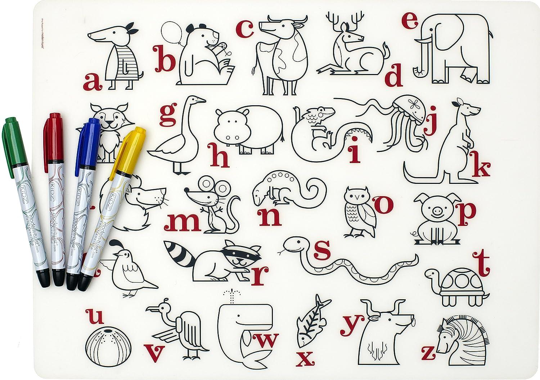modern twist placemat alphabet animals amazonca home  kitchen -