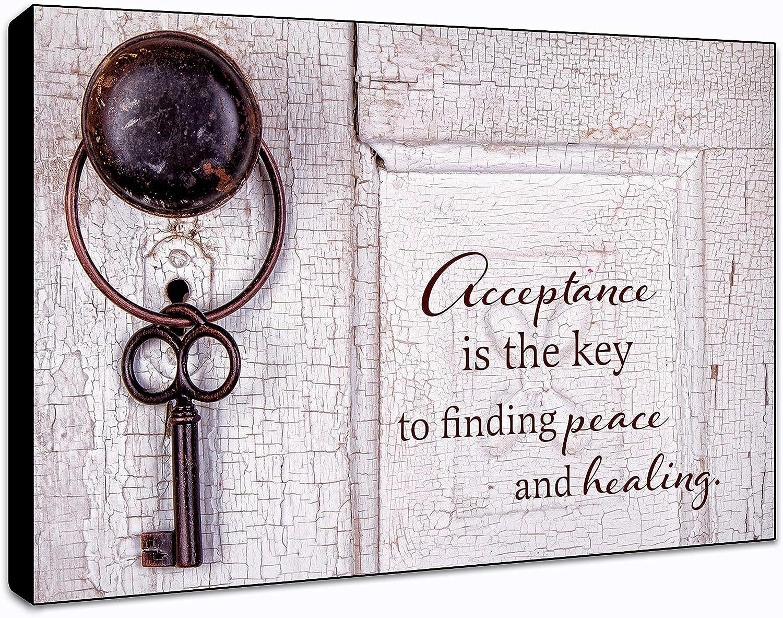 "LACOFFIO Acceptance is The Key Wall Art Décor Plaque 9""x 6"