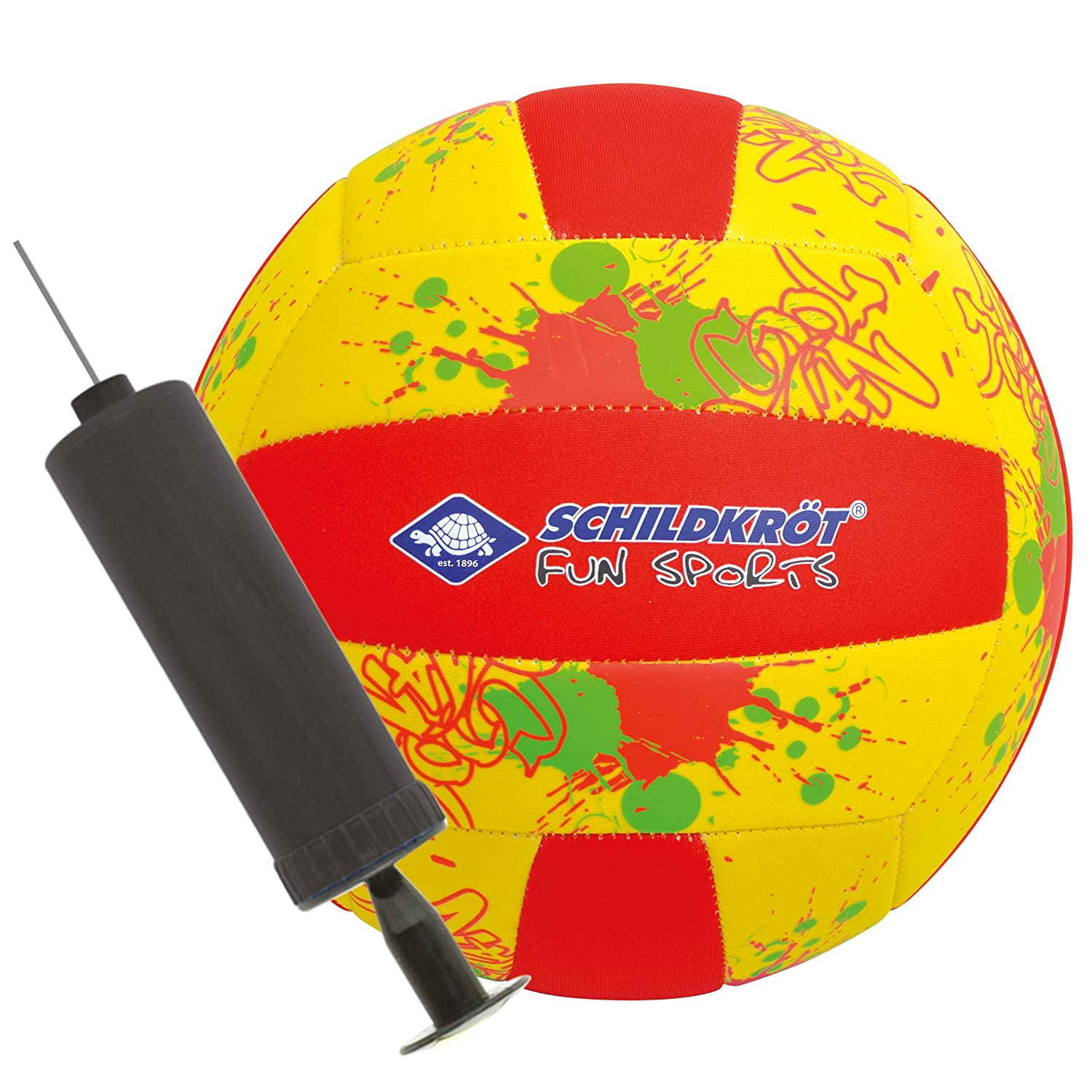 Schildkröt Fun Sports 970286 Ballon de Beach-Volley Mixte Enfant, Multicolore,