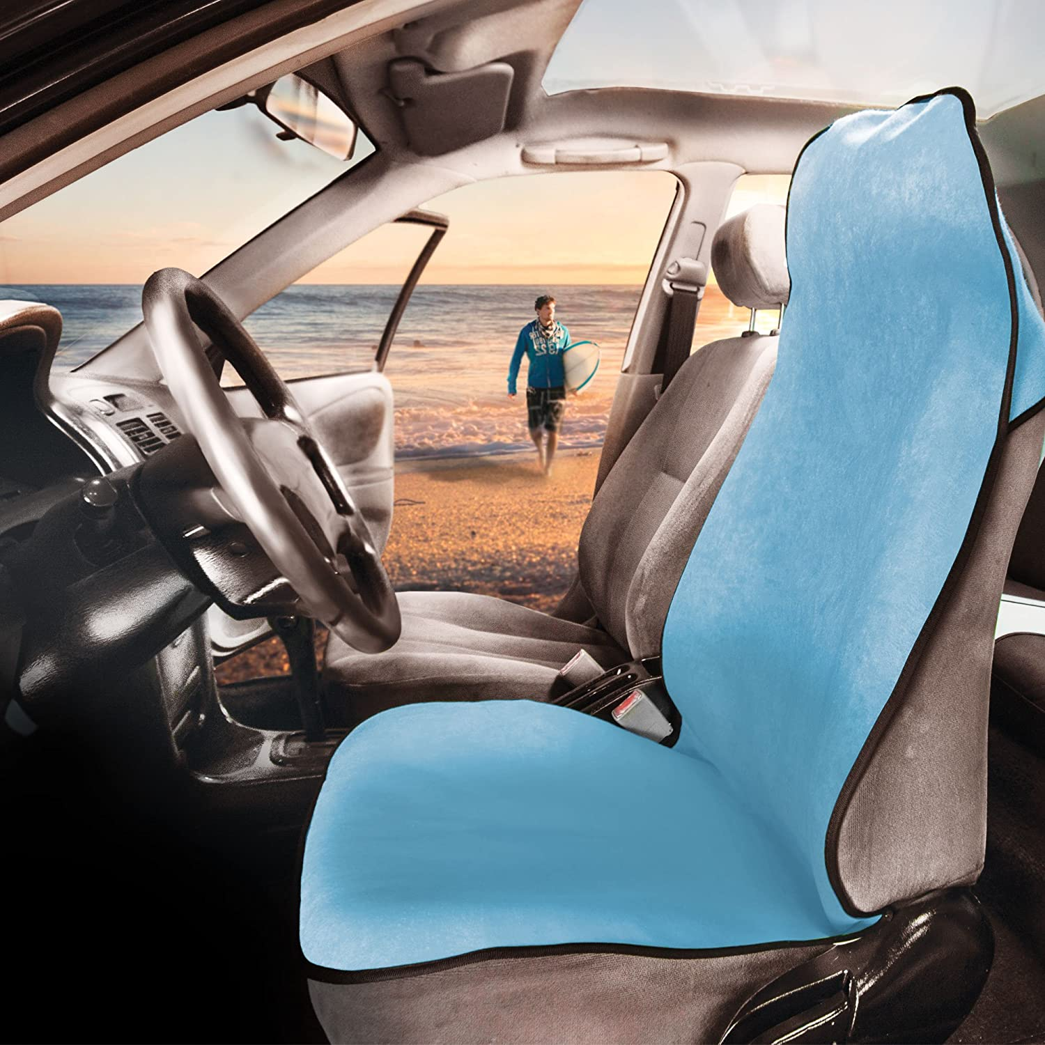 FH Group FH1006LIGHTBLUE Water Resistant Quick Dry Car Seat Cover Workouts, Gym, Yoga, Beach Anti-Slip