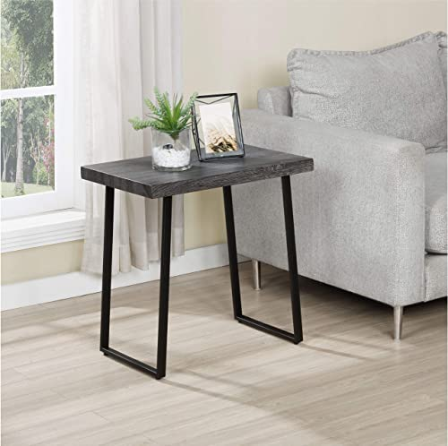 FirsTime Co. Rhys End Table, American Crafted, Gray, 23.5 x 23.5 x 16 , , 23.5 inches