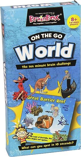 Brain Box - On The Go World, Juego de Mesa en inglés (90081): Amazon.es: Juguetes y juegos