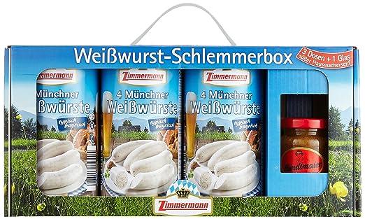 Fleischwerke Zimmermann Weißwurst Schlemmerbox: Amazon.de ...