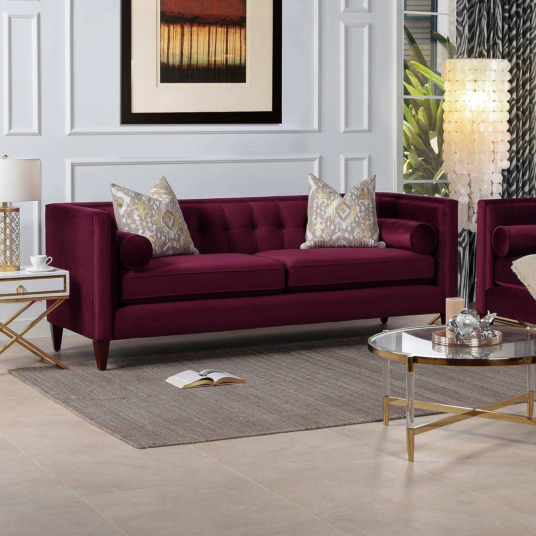 Jennifer Taylor Home Jack sofas, Burgundy