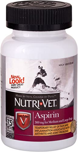 Nutri-Vet Asprin Chewables for Large Dogs Relieves Pain and Inflamation 75 Count