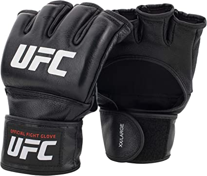 UFC Gloves Official Pro Fight Gloves Leather 4oz MMA Grappling Sparring Mitts