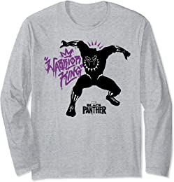 Marvel Black Panther Movie King Purple Graffiti Long Sleeve