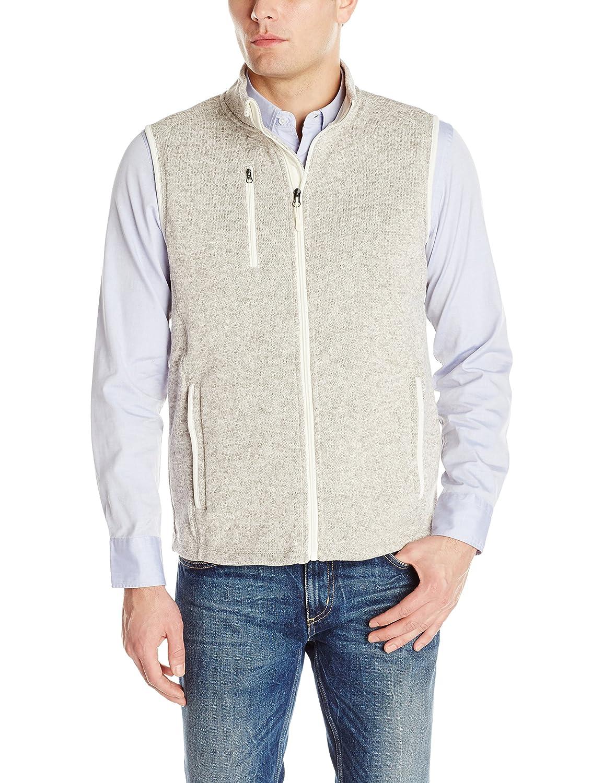 Charles River Apparel Mens Pacific Heathered Sweater Fleece Vest Fleece Vest