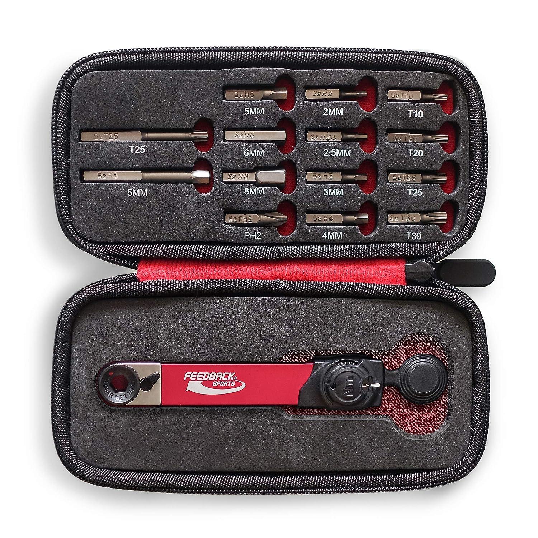 Llave dinamom/étrica con Juego de Puntas Unisex Plateado y Negro Color Rojo Feedback Sports Range