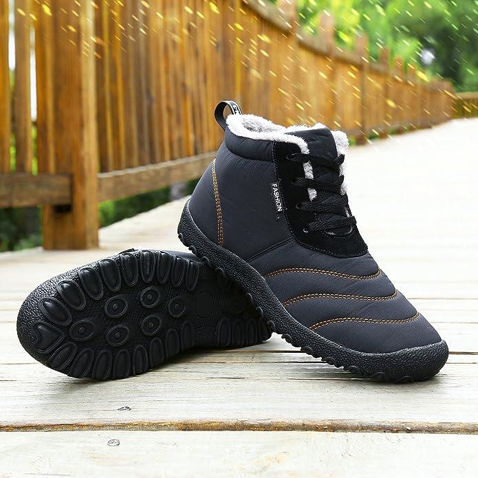 QLVY Winter Slip On Hausschuhe Faux Pelz Warm Gefüttert Schnee Wasserdichte Schuhe High-Top Stiefel Winter Warme Wasserdichte Schuhe Schwarz 40 NzgOb