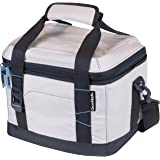 CleverMade Collapsible Soft Cooler Bag Tote - Insulated 18 Can Leakproof Small Cooler Box with Bottle Opener and Shoulder Str