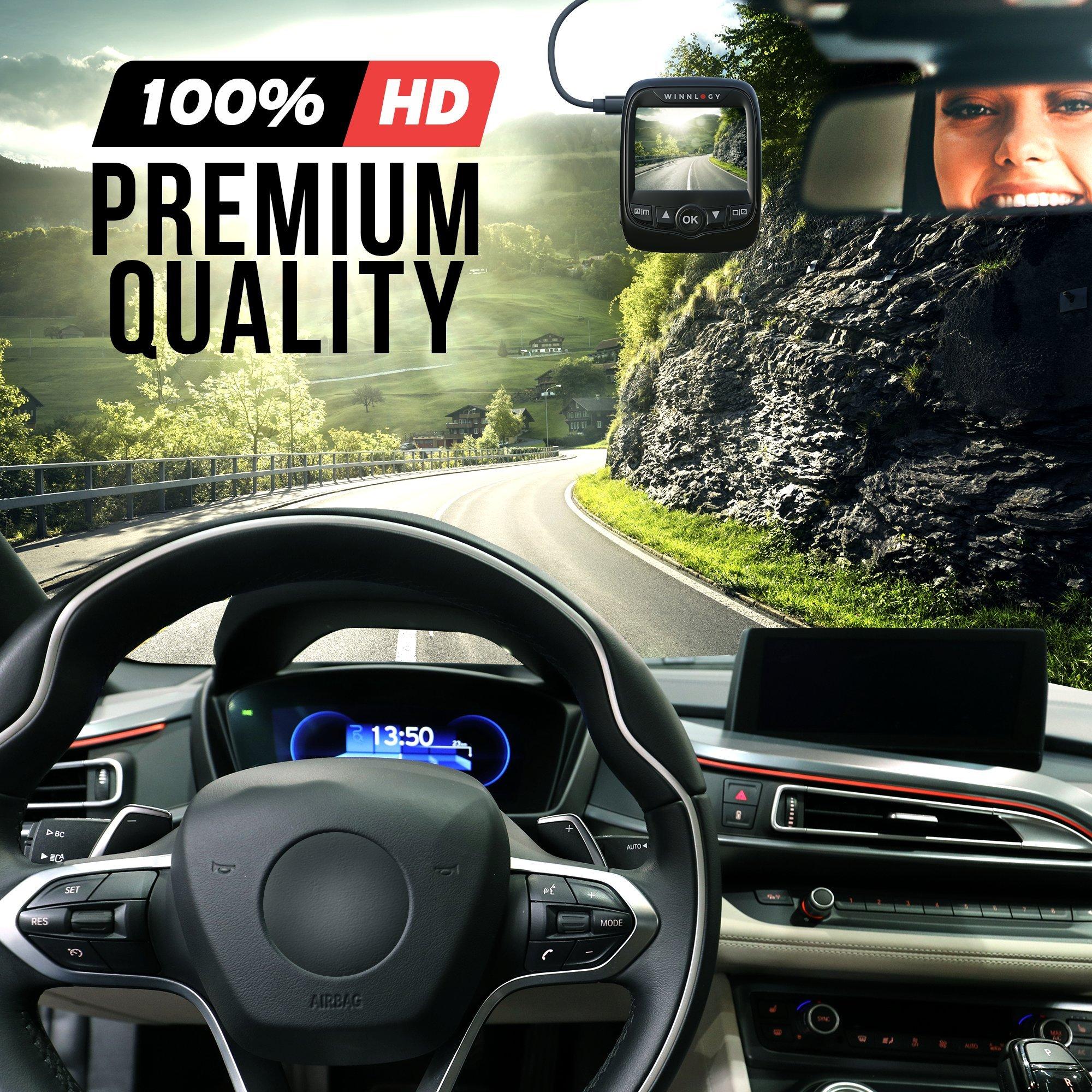 Winnlogy FX-8 Car Dash Cam 2018 155° Angle 1080p FHD 30fps  2\