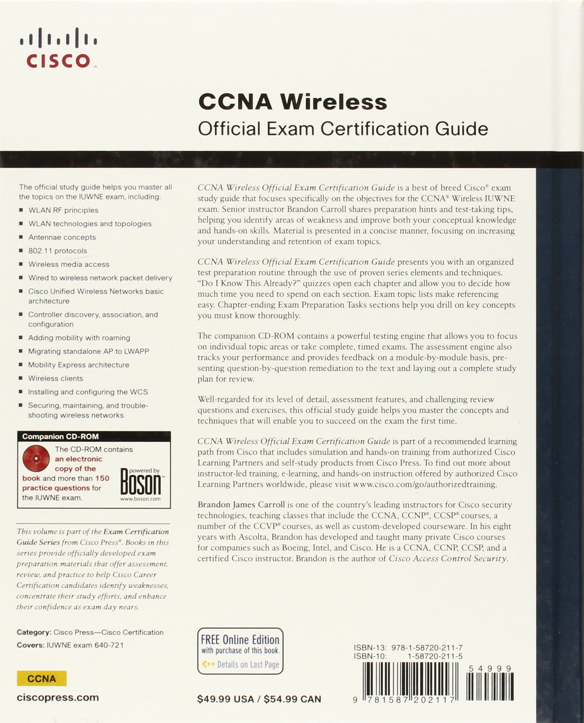 Buy ccna wireless official exam certification guide ccna iuwne buy ccna wireless official exam certification guide ccna iuwne 640 721 official exam certification gd book online at low prices in india ccna wireless 1betcityfo Gallery