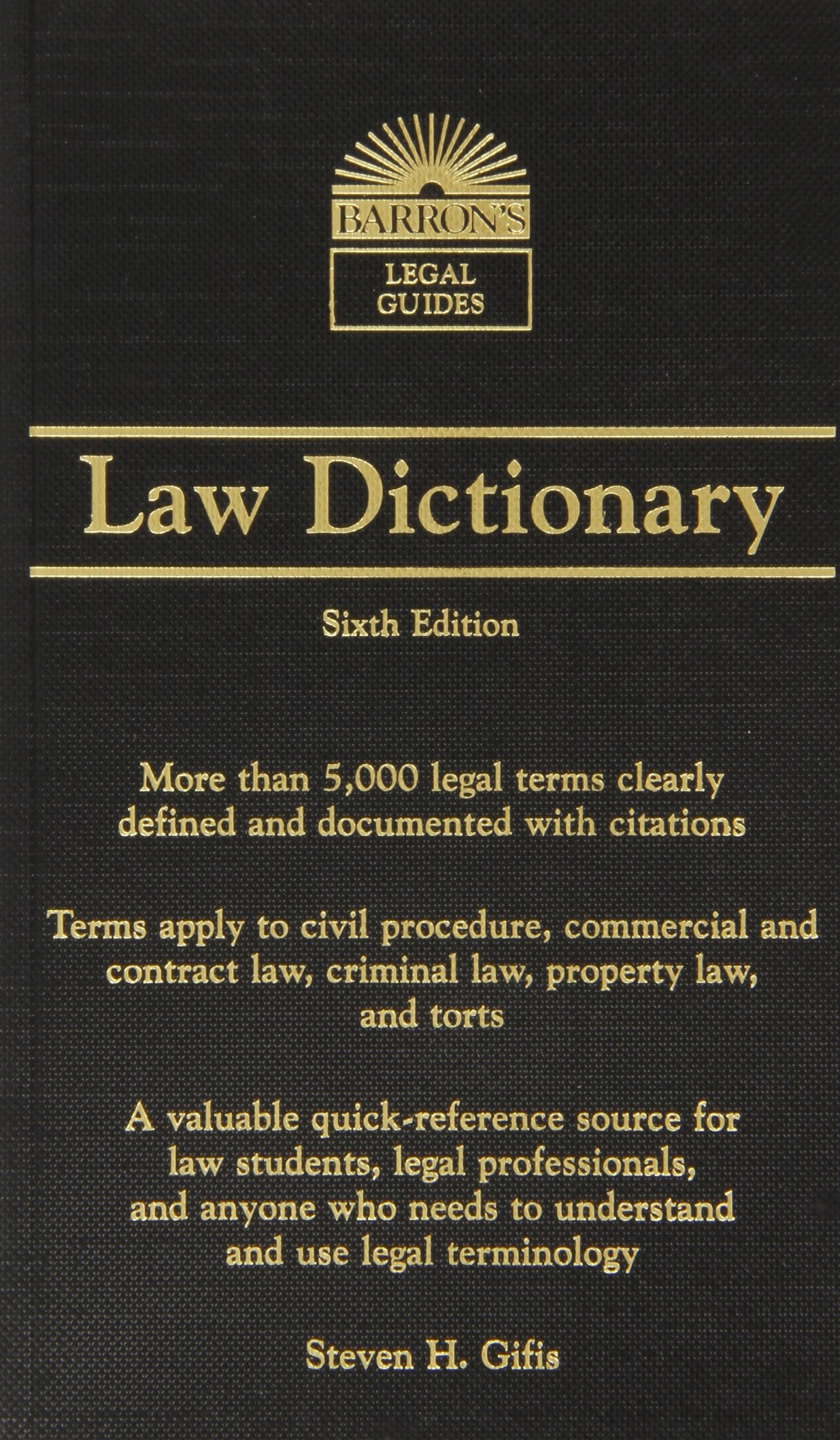 Barron's Law Dictionary: Mass Market Edition (Barron's Legal Guides) by Barrons Educational Series