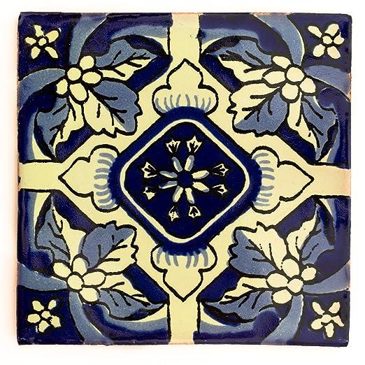 Azulejos Mexicanos Artesanales de Talavera de 5cm Azulejo individual