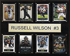 NFL Seattle Seahawks Russell Wilson 8-Card Plaque, 12 x 15-Inch