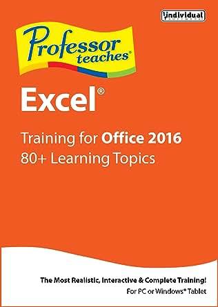Amazon.com: Professor Teaches Excel 2016 [Download]: Software