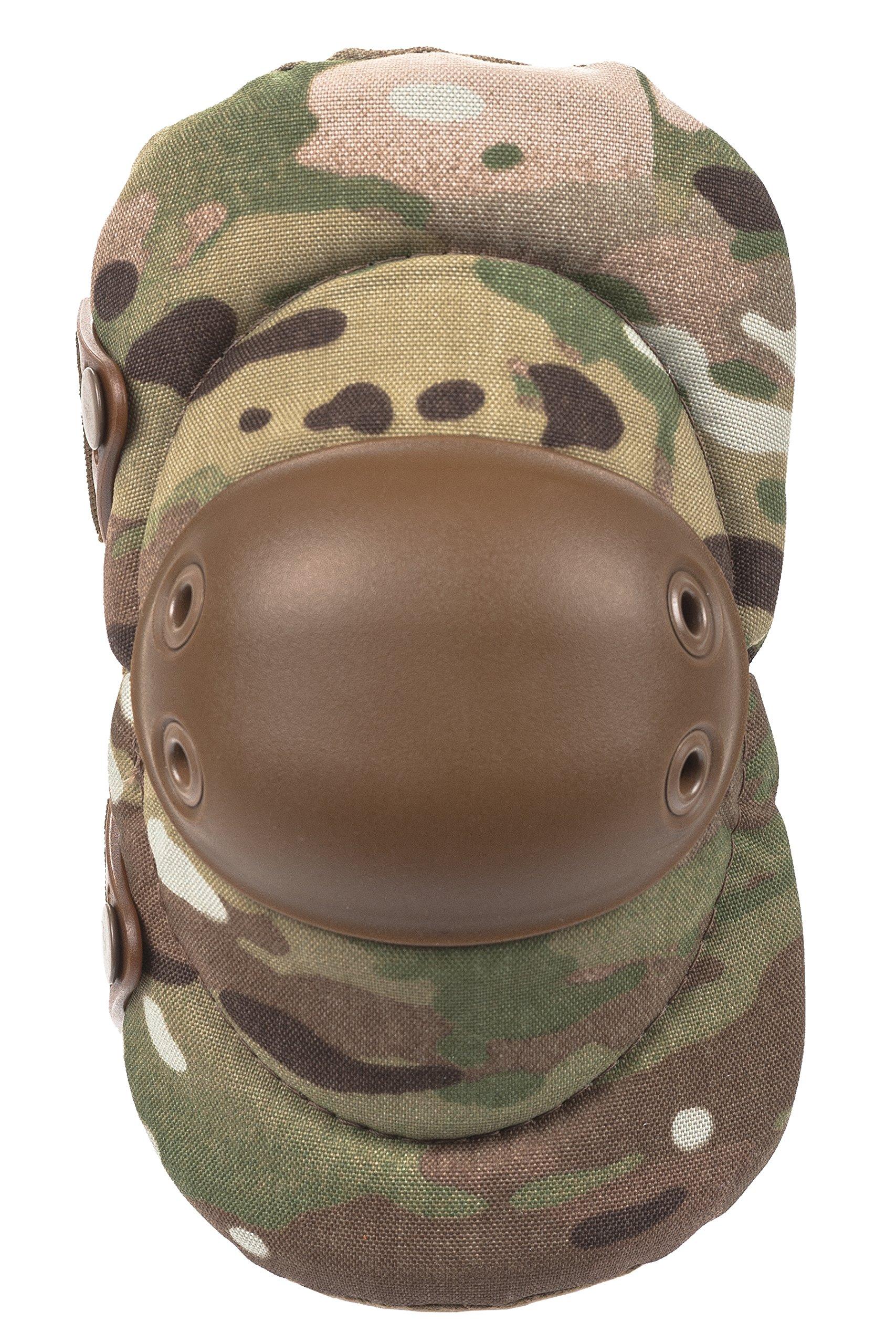ALTA 53013.16 AltaFLEX Elbow Protector Pad, MultiCAM Cordura Nylon Fabric, AltaLOK Fastening, Flexible Cap, Round, Coyote