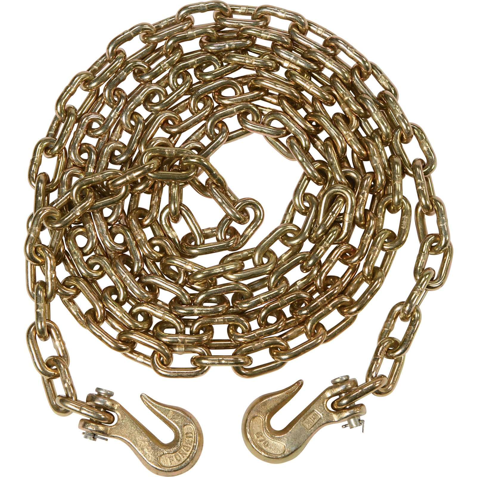 9TRADING 4 pack 5/16'' x 20' G70 Tow Chain Binder Tie Down Flatbed Truck or Trailer Chain, Free Tax, Delivered within 10 days
