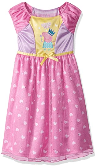 Peppa Pig Vestido De Princesa Para Niña