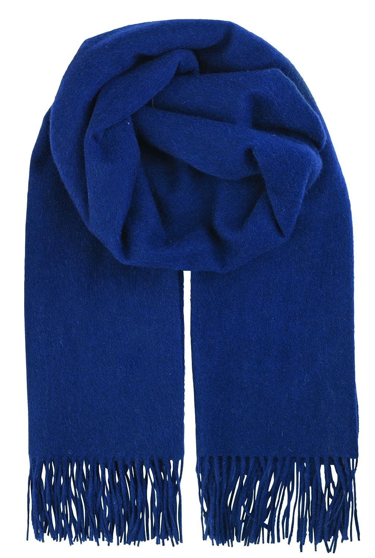 Becksöndergaard Crystal 663001 Fransenschal 100% Wolle weich Ballad Blue Blaugrau