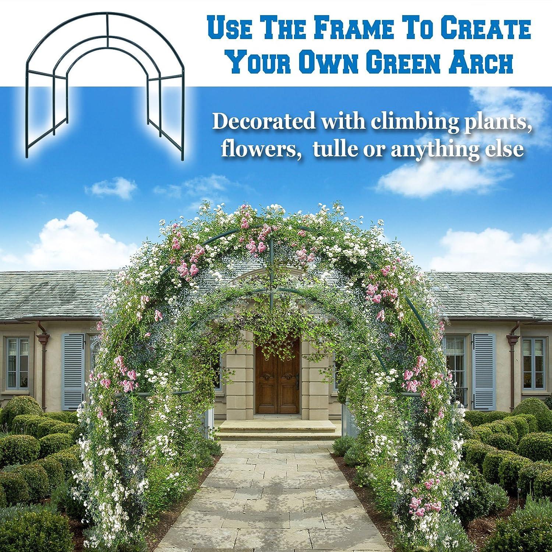 BenefitUSA multiusos apoyo arco marco para escalada plantas/flores ...