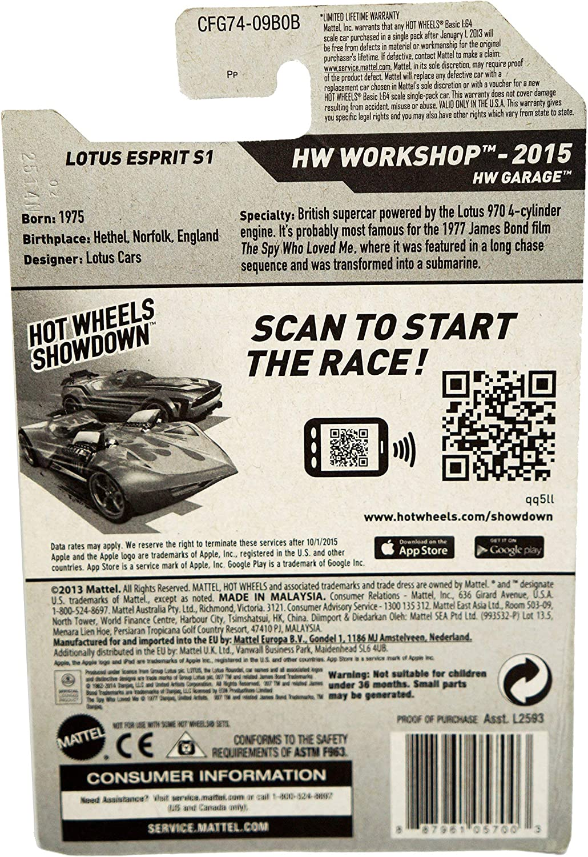 James Bond 007 The Spy Who Loved Me Lotus Esprit S1 2015 Hot Wheels Hw Workshop