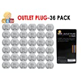 Plug Protectors - Outlet Covers Baby Proof Your Home's Electrical Sockets – 36 Pcs by All4baby