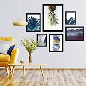 Americanflat Reading All Day by Studio Grand-Pere 6 Piece Black Framed Gallery Wall Art