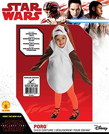 510582/_TODD The Last Jedi Porg Ahch-To Toddler Costume Rubie/'s Costume Co