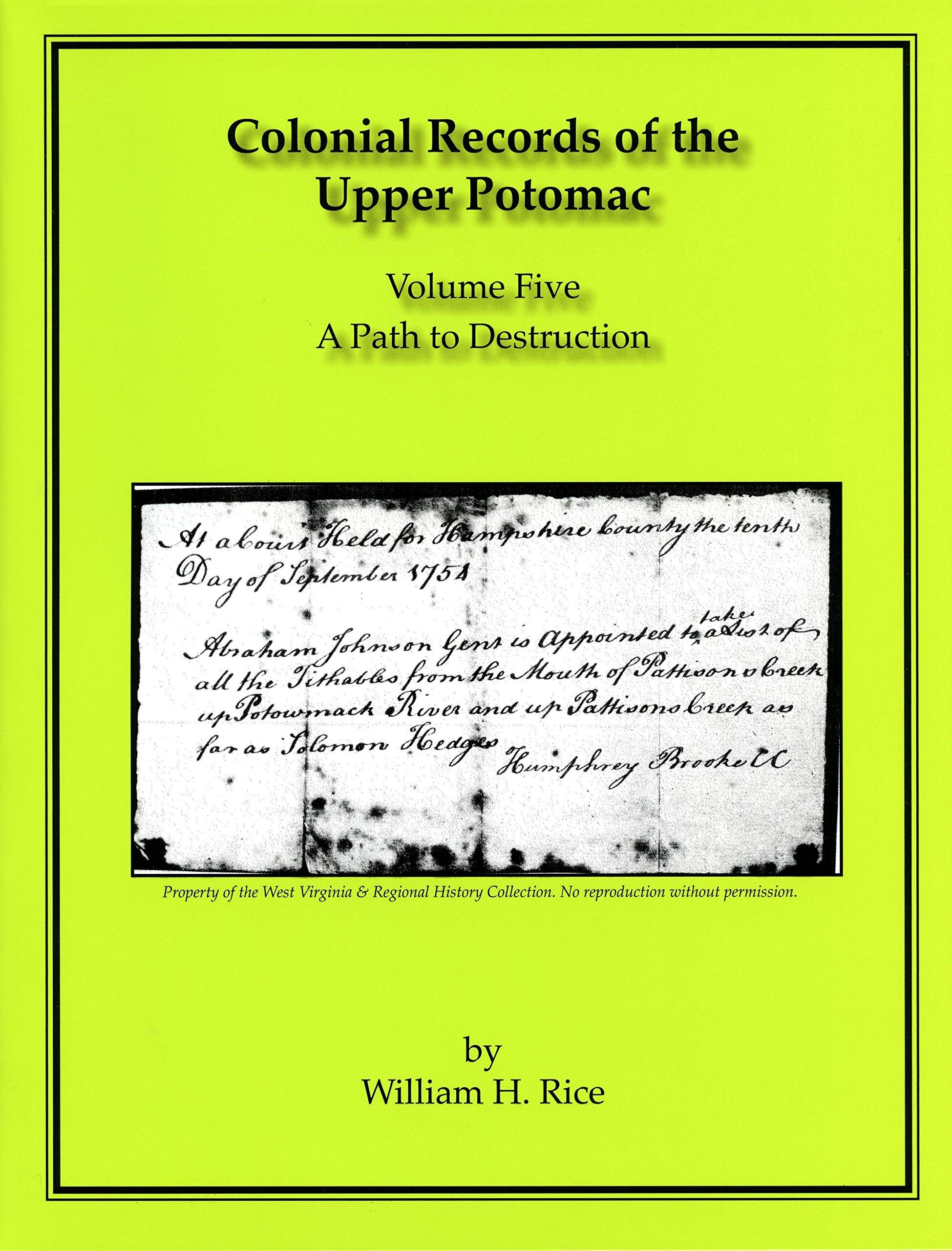 Download Colonial Records of the Upper Potomac -- Volume V pdf epub