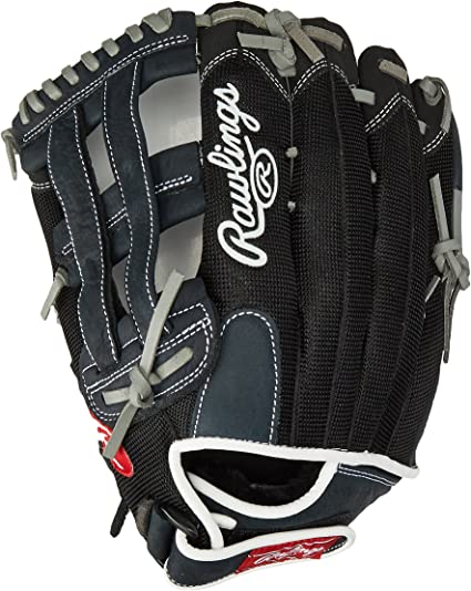 Amazon Com Rawlings Renegade Series Pro Mesh Back Glove Black 13 Worn On Right Hand Sports Outdoors