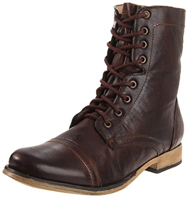 Amazon.com | Steve Madden Men's Troopah Lace-Up Boot | Motorcycle ...