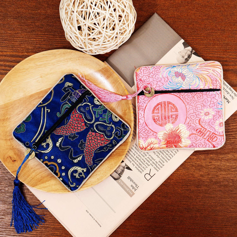 Amazon.com: Handrong - Bolsa de regalo de seda con brocado ...