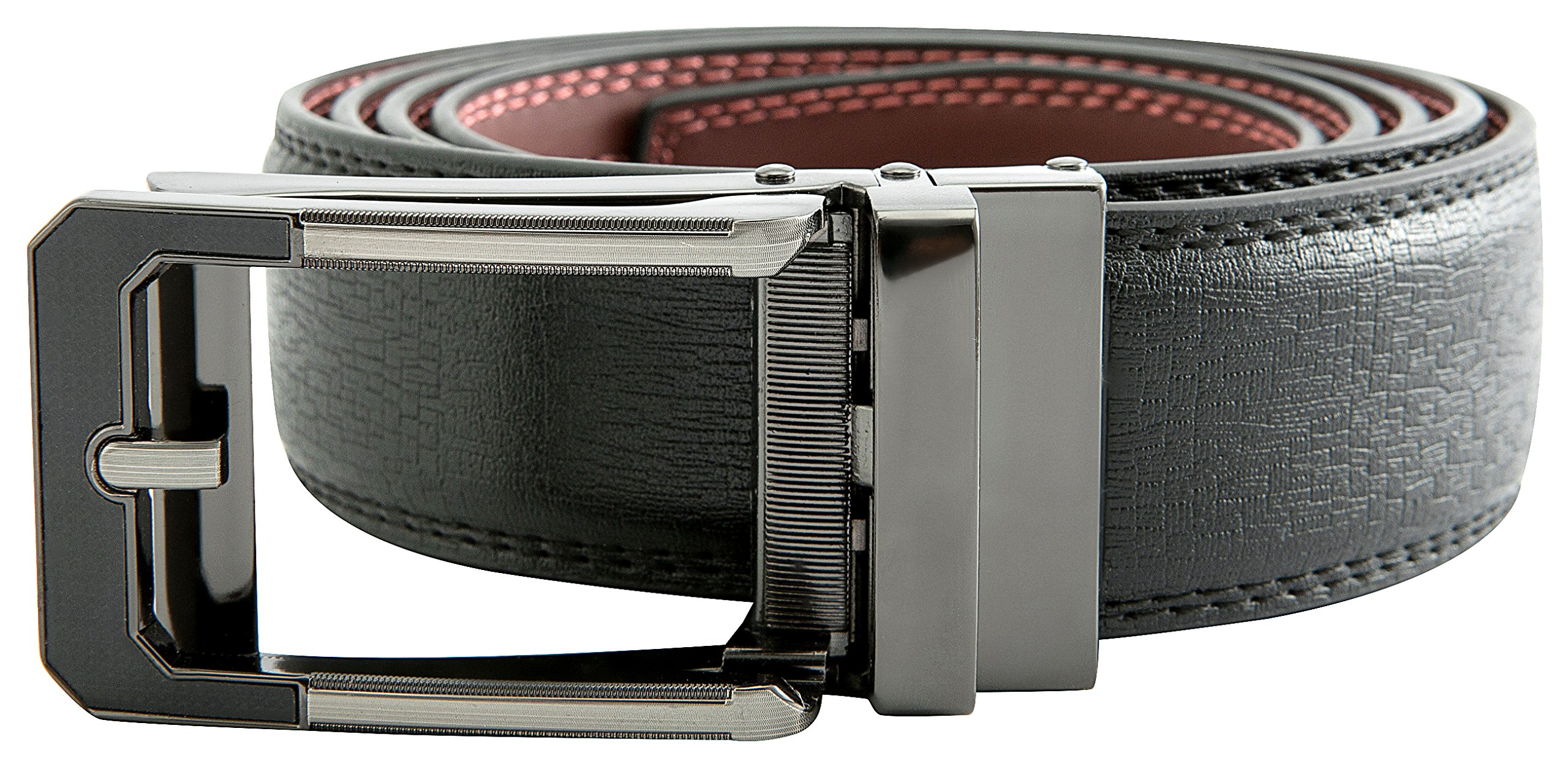 Men's Black Ratchet Belt - Black and Silver Open Style - by J. Dapper by J. Dapper (Image #4)