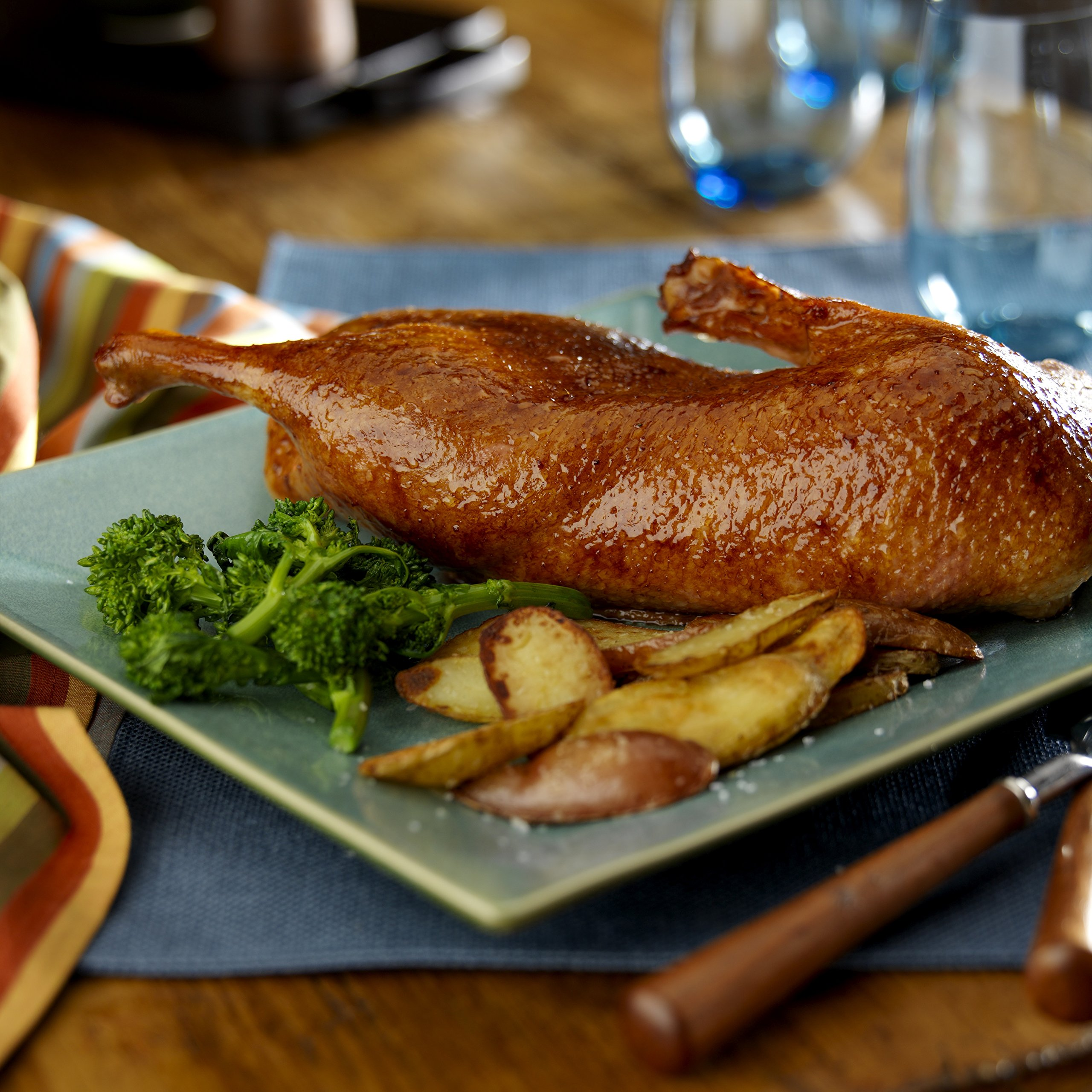 Maple Leaf Farms Roast Half Duck, Partially Deboned, Fully Cooked, 12 oz., (12 per case)
